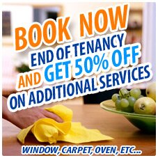 EOT + 50% off additional services (Carpet; upholstery; windows,etc)