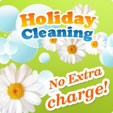 Holiday Cleaning. No Extra Change!